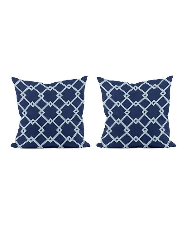 Look at this Navy Blue Geometric Throw Pillow - Set of Two on #zulily today!