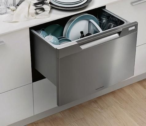 Dishwasher drawers may work (can put a storage drawer below. This one is Fisher & Paykel 23 7/16 inches wide. Comes in 16. 3/32 tall, or 18 tall (inches).
