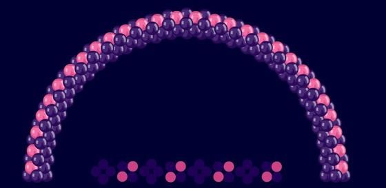 """Варианты цветового решения в гирляндах и арочках - Инструкции, Мастер-классы - Клуб """"Воздушные шары"""""""