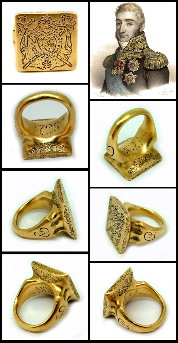 Important 18ct Gold Napoleonic intaglio ring dated 1796