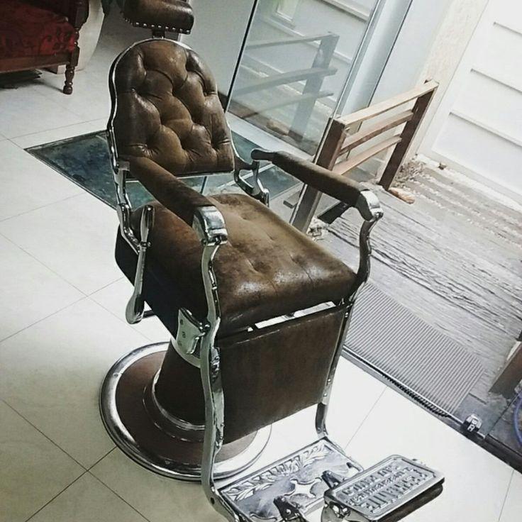 Cadeira De Barbeiro Ferrante 100% Restaurada (12x Sem Juros) - R$ 5.799,00 no MercadoLivre