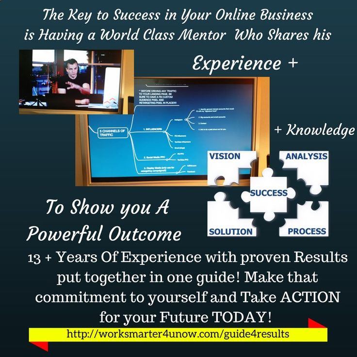 Learn the keys to creating Multiple Streams of income online from one source. World class mentor with over 13  years of proven experience shows how! For A VERY LIMITED TIME Create your Free Account Today -and have access to step by step tutorials showing you how to be successful online. For more information go to worksmarter4u.com home page and click on 7 steps guide link. Apparently pinterest doesn't like my link from clickmagick.