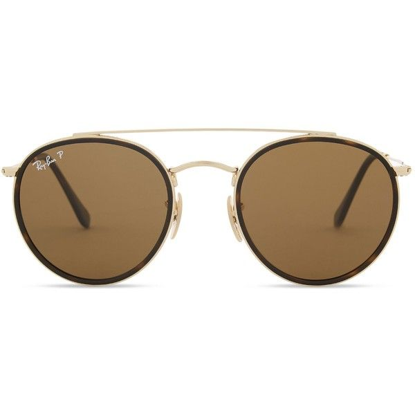 Ray-Ban RB3647N polarised round-frame sunglasses found on Polyvore featuring accessories, eyewear, sunglasses, glasses, american sunglasses, matte tortoise sunglasses, tortoise sunglasses, tortoiseshell sunglasses and round lens sunglasses