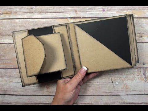 Unique Square Envelope Mini Album Tutorial - YouTube