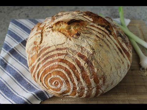 Okneti das Brot ohne Kneten - YouTube