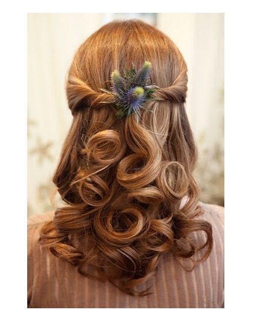 Curly Wedding Hairstyles Half Up: Curly Half Updo Half Updos For Weddings FollowPics