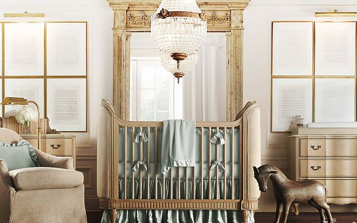 Cream aqua blue boys nursery decor