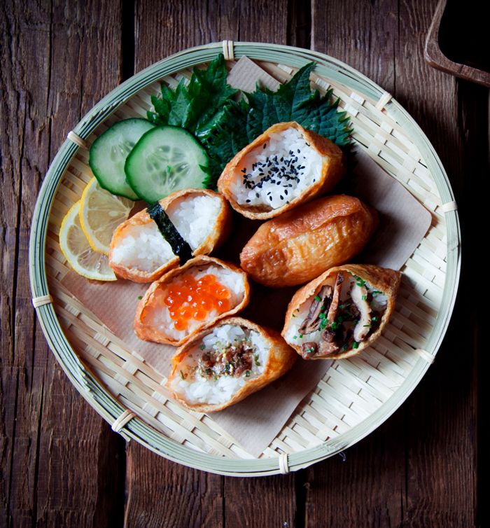 Asian food Japanese inari-zushi