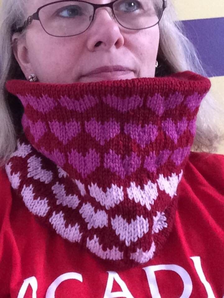 Fading Hearts Cowl made with Cascade 220 Superwash Sport (02/18)