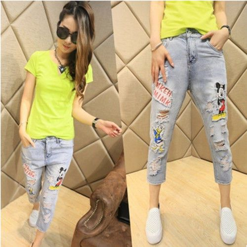 female summer fashion fashion slim pants female   cartoon Haren seven pants #Unbranded