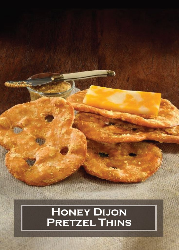 STACY'S Honey Dijon Pretzel Thins – the perfect snack to pair with cheese or your favorite spread!