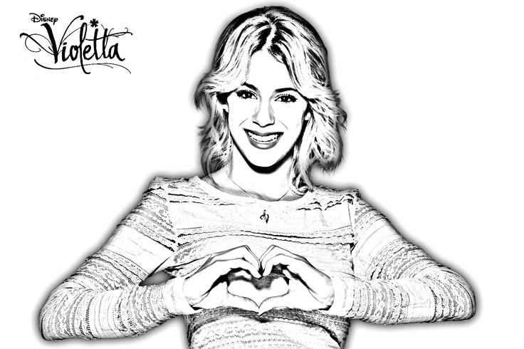 violetta coloring pages - photo#35