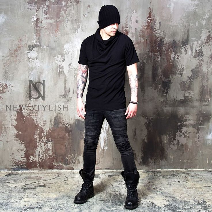 Black turtle neck ribbed shirts - 663 - NSIE NewStylish