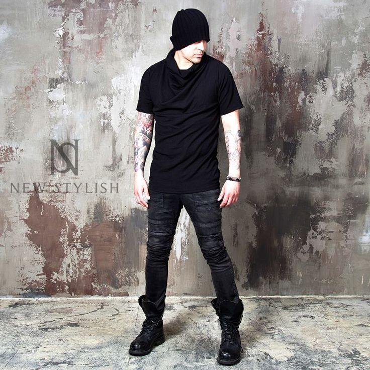 Black turtle neck ribbed shirts - 663 - NSIE NewStylish