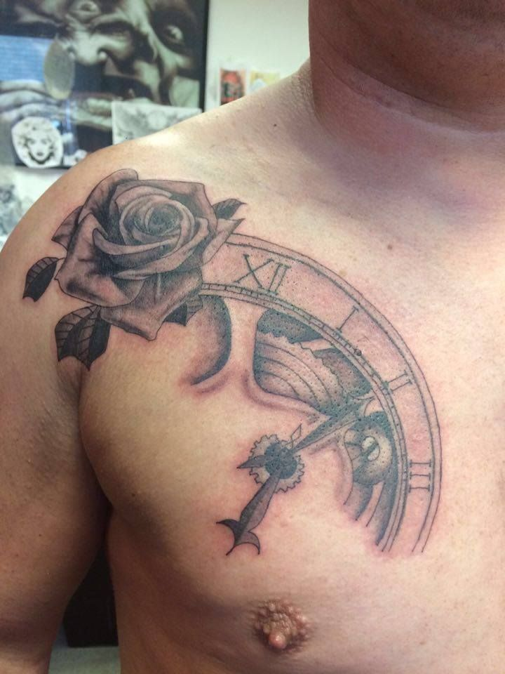 1000 images about tattoo 39 s done at sin on skin studio on for Black and grey chest tattoos