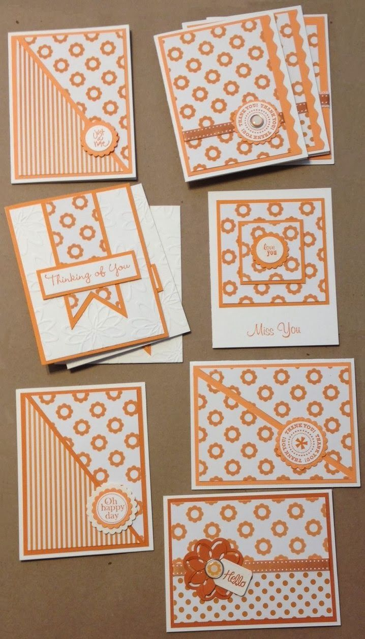 Bobbi's Treasure: I cut up my favorite piece of paper! Challenge from Stamp Tramps flocked orange cards