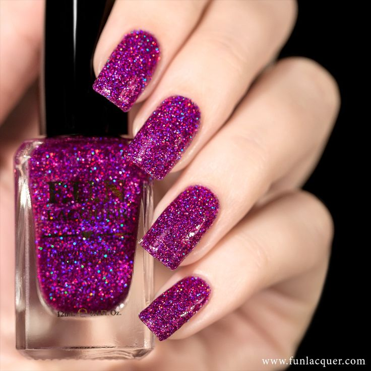 Use this magenta and purple holographic nail polish in a clear base for a fabulous manicure. This polish can be worn alone in 2-3 coats or top it with any color. Collection: Simplynailogical