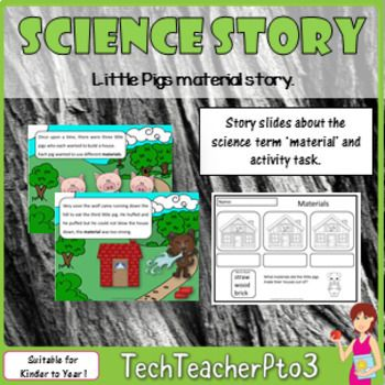 STEM Science Vocabulary Story 'Little Pigs material story'