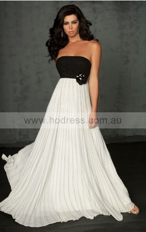 Sleeveless Backless Strapless Floor-length Chiffon Evening Dresses dt00304--Hodress