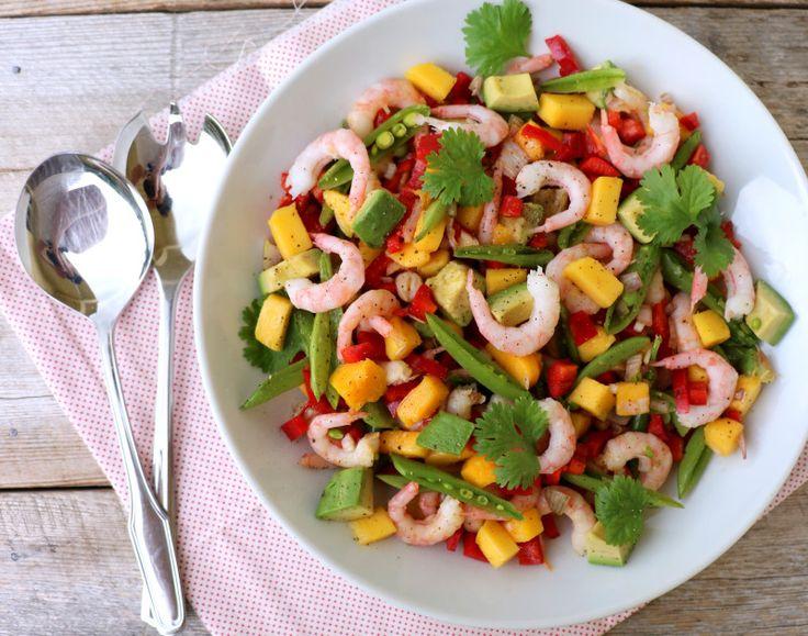 lindastuhaug   Skalldyrsalat med mango og avokado