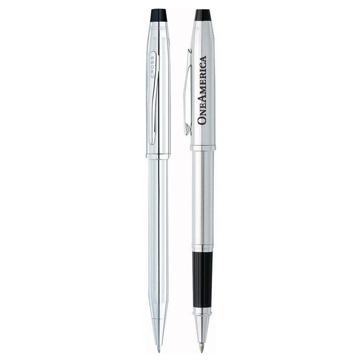 Cross Century II Lustrous Chrome Silver Pen Set