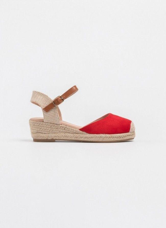 f4be5238054 Εσπαντρίγιες με χαμηλό τακούνι πλατφόρμα - Κόκκινο | Fashion Picks ...
