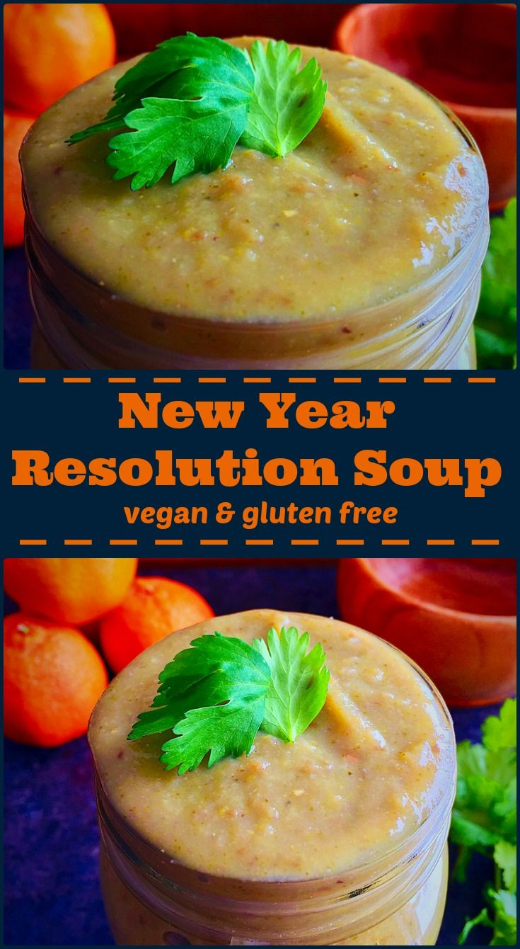 Creamy plant based soup loaded with vegetables, protein and  plenty of fiber to keep you on track in the New Year on Elle's Gourmet Life