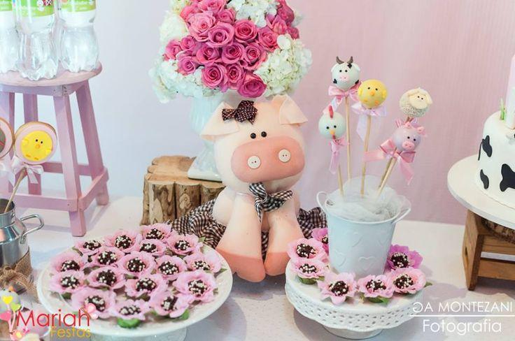 Festa fazendinha rosa | Festa menina | Festa infantil | Decoração by Mariah festas #fazendinha #festainfantil #mariahfestas