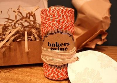 Bakers twine from Bespoke Letterpress Studio