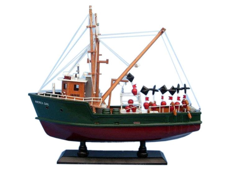 "Wooden Andrea Gail - The Perfect Storm Model Boat 16"" from Hampton Nautical"