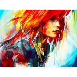 Woman painting | Картина с женщиной