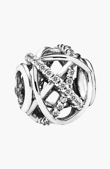 This charm is just beautiful. I love how its twisted in glitter and glim. It reminds me of something about myself. This one is for my wedding bracelet. PANDORA 'Galaxy' Bead Charm available at #Nordstrom