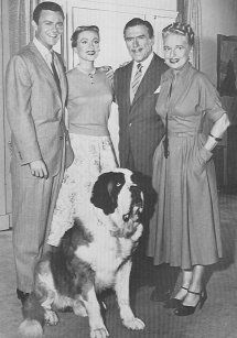 Topper (1953-1955) -- oh I loved this show!!  Cosmo Topper & wife Henriette living in the house of now deceased ghosts George & Marion Kerby and their dog Neil.  Marion was the ghostess with the mostest!!