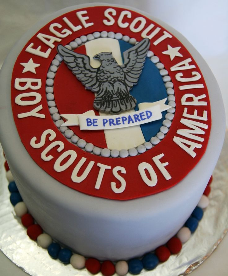 Cake for Eagle Scout Court of Honor.  All fondant decorations.