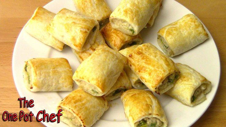 Sweet Chilli Chicken Sausage Rolls | One Pot Chef