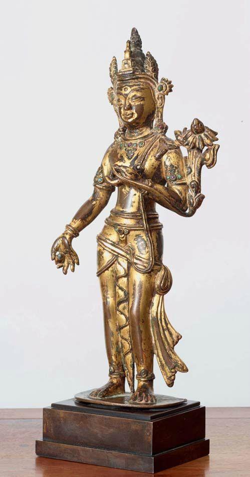 Maitreya, Népal-Tibet, ca 14° siècle