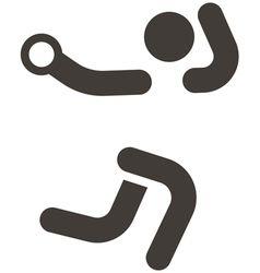 Handball icon vector