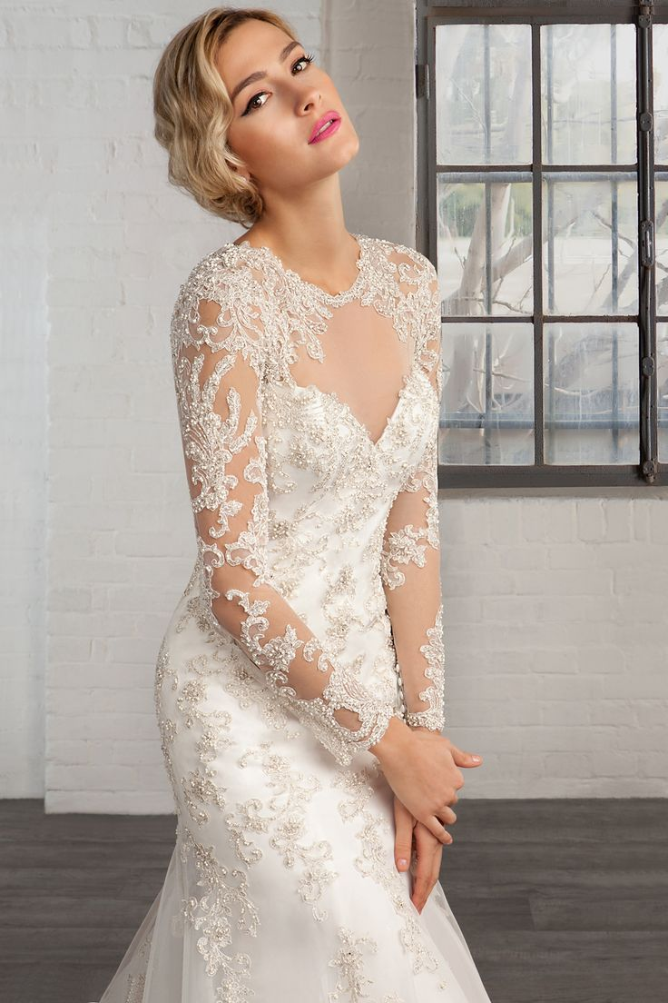 Cosmobella wedding dress Style 7760: Cosmobella 2016 bridal collection : https://www.itakeyou.co.uk/wedding/cosmobella-wedding-dress-2016 #weddingdress #weddingdresses