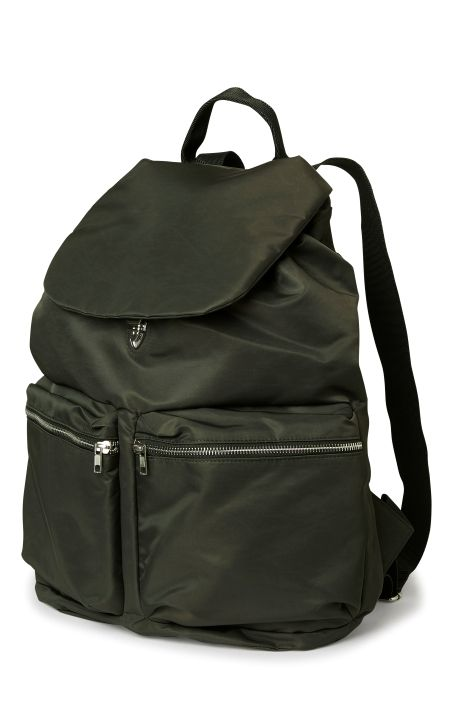 Weekday Pocket Backpack in Khaki Green