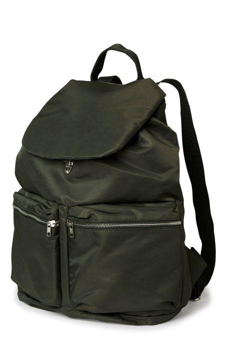 Weekday Pocket Backpack in Khaki Green