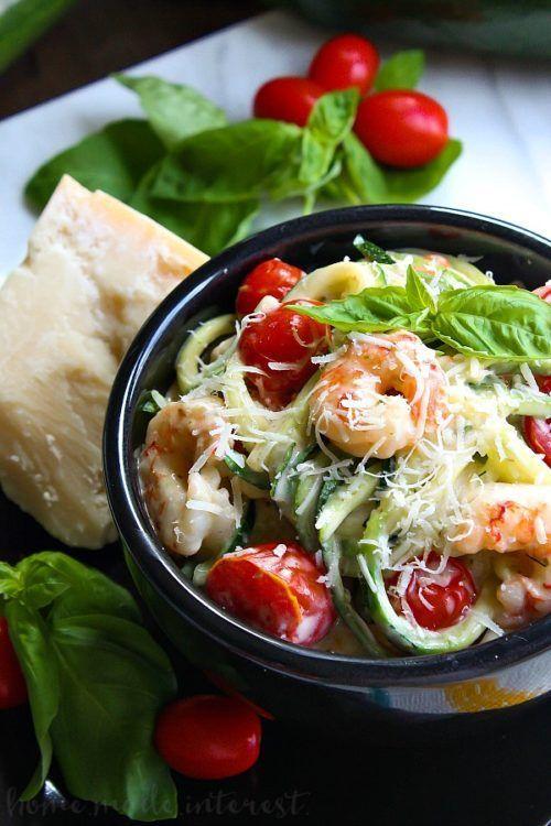 One Pot Low Carb Shrimp Alfredo recipe  Keto Recipes for the Entire Family. #ket...
