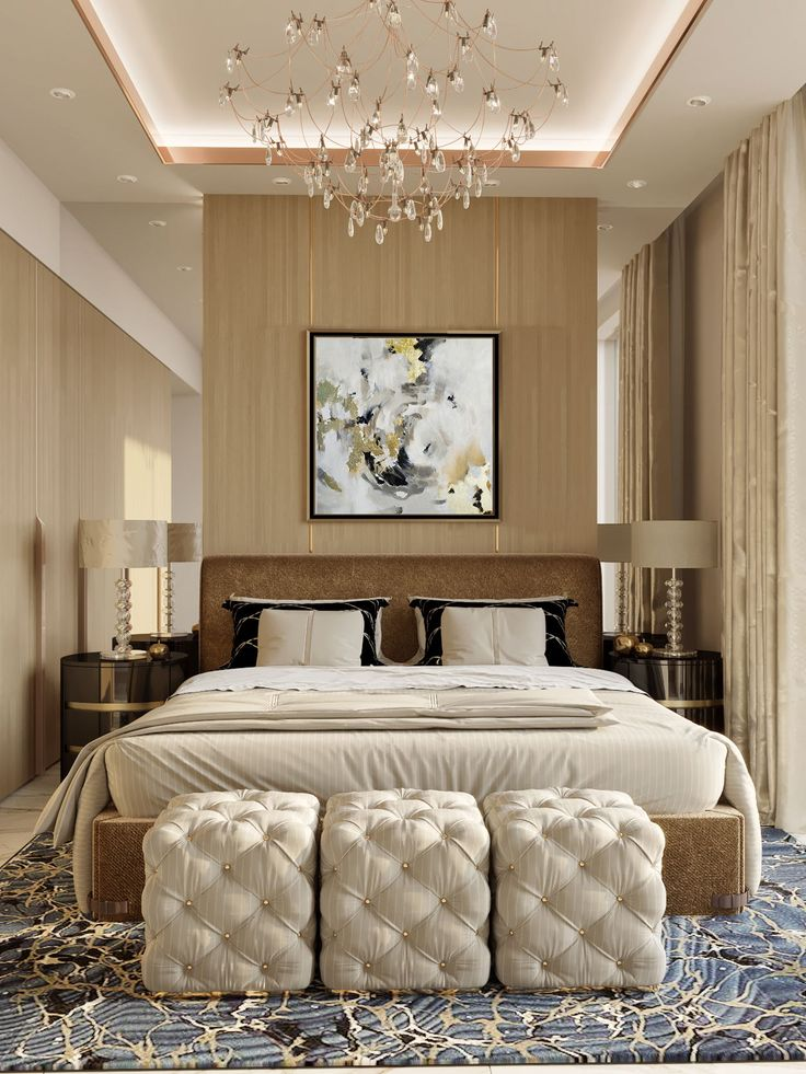 Bedroom Drawing: Colour Abstract Art Drawing For Bedroom Interior Design Of