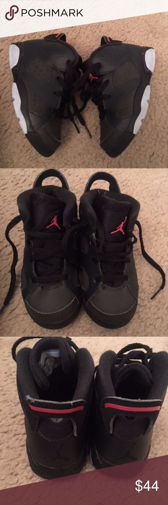 Size 9c Pink and Black Jordans Great condition..no scuffs or scrapes Jordan Shoes Sneakers