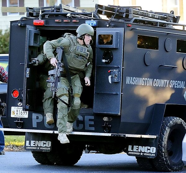 Maryland State Police, FBI SWAT Teams Thwart … Guy with a Few Guns