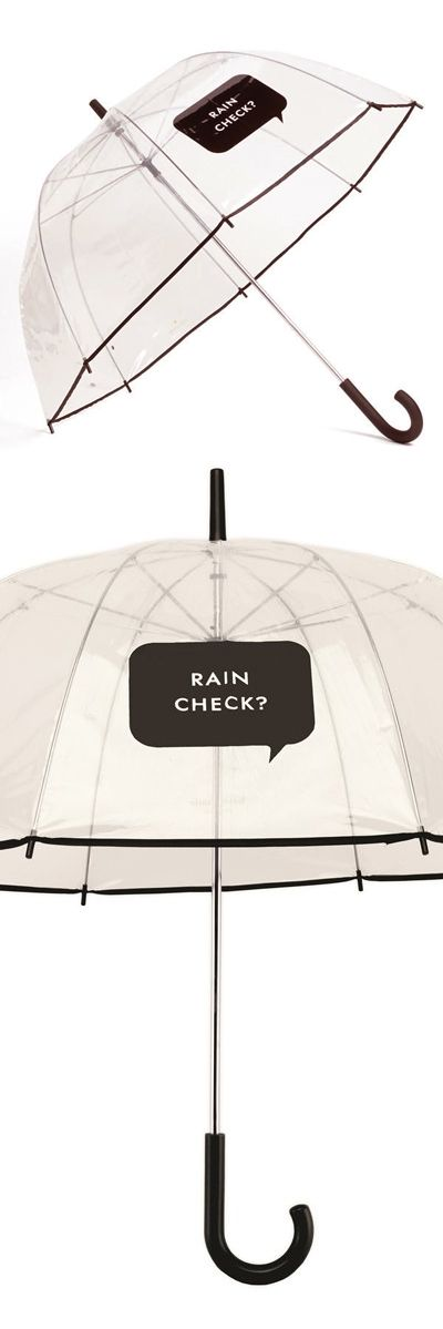 Rain Check? Umbrella by Kate Spade // classic! Haha... #product_design