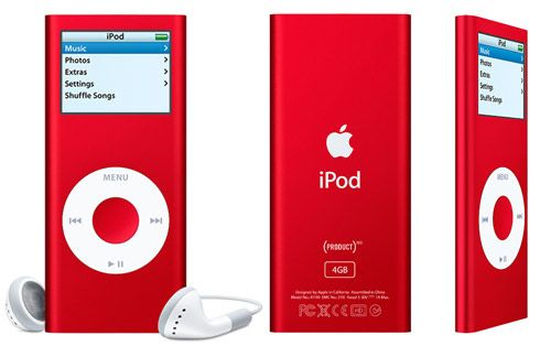 Apple's iPod nano in Red. This color is a warm and positive color associated with our most physical needs and our will to survive. It exudes a strong and powerful masculine energy. #ipod #ipodnano #device #technology #electronics #audio #music #teamapple #sprout #sproutaus #freedomtogrow #colourpsychology #colourmeaning