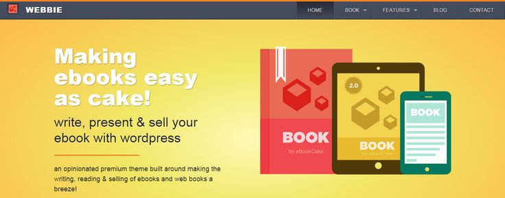 Webbie - WordPress Theme for Authors, eBooks, Digital Downloads Click the link to DEMO | DOWNLOAD NOW