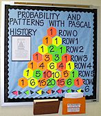 Probability and Patterns with Pascal...this would be cool for an upcoming math module.  The students could fill in the rest of Pascal's Triangle and then write a report about the history and patterns found.