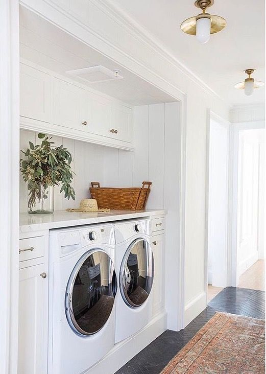 Hallway laundry