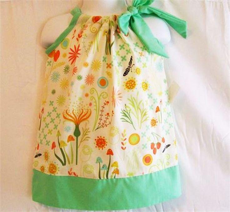 Girls Garden Floral Pillowcase Dress, Girls Clothing, Baby Girls Dress, Toddler Girls Dress, Big Girls Dress, handmade Dress, USA Made, #41P by SewingGallerybyBarb on Etsy